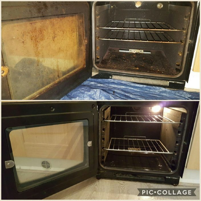 Single oven clean before and after nottingham